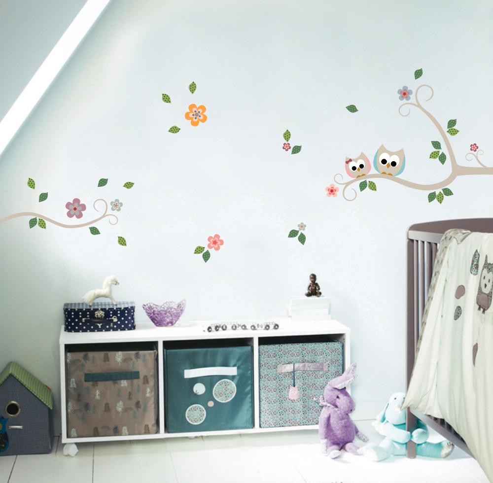 http://www.mimoinfantil.com.br/corujinhas-rosa-e-azul-adesivos/ Corujinhas Rosa e Azul | Adesivos para quarto de bebê - MimoInfantil.