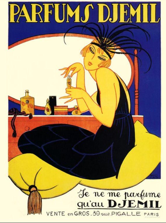 Publicidad elegante de los veintes.