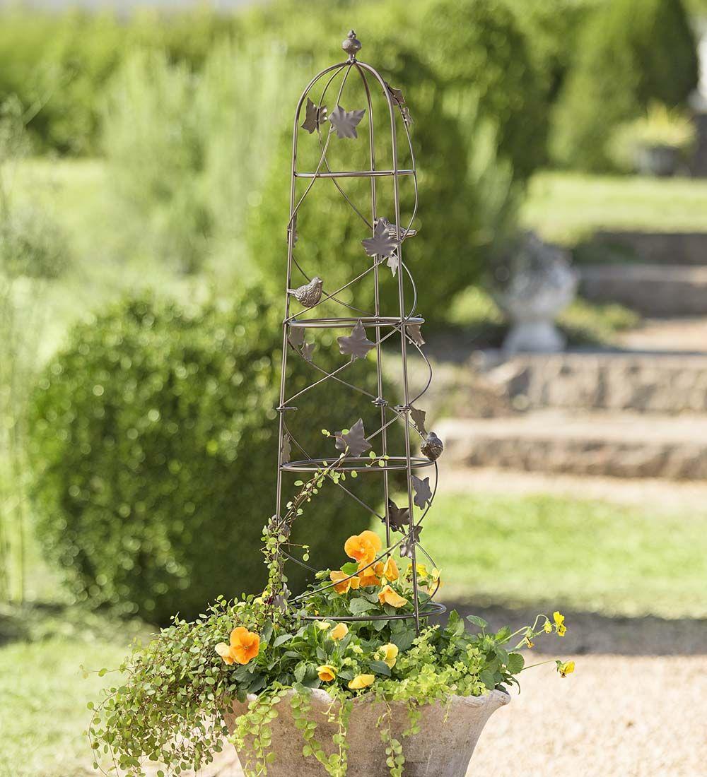 Birds and Vine Garden Obelisk Arbors Garden vines