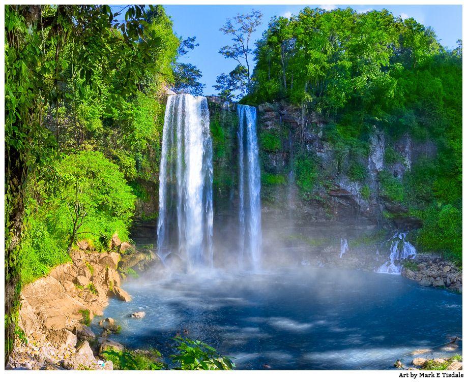 Beautiful Waterfalls in Chiapas - Mexican Landscape Art by Mark E ...