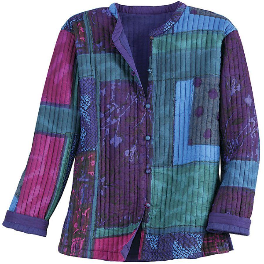 59.95 Reversible Jewel Tone Patch Jacket Best Selling