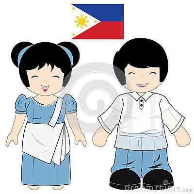 Traje tradicional de Filipinas | NIÑOS DEL MUNDO | Pinterest ...