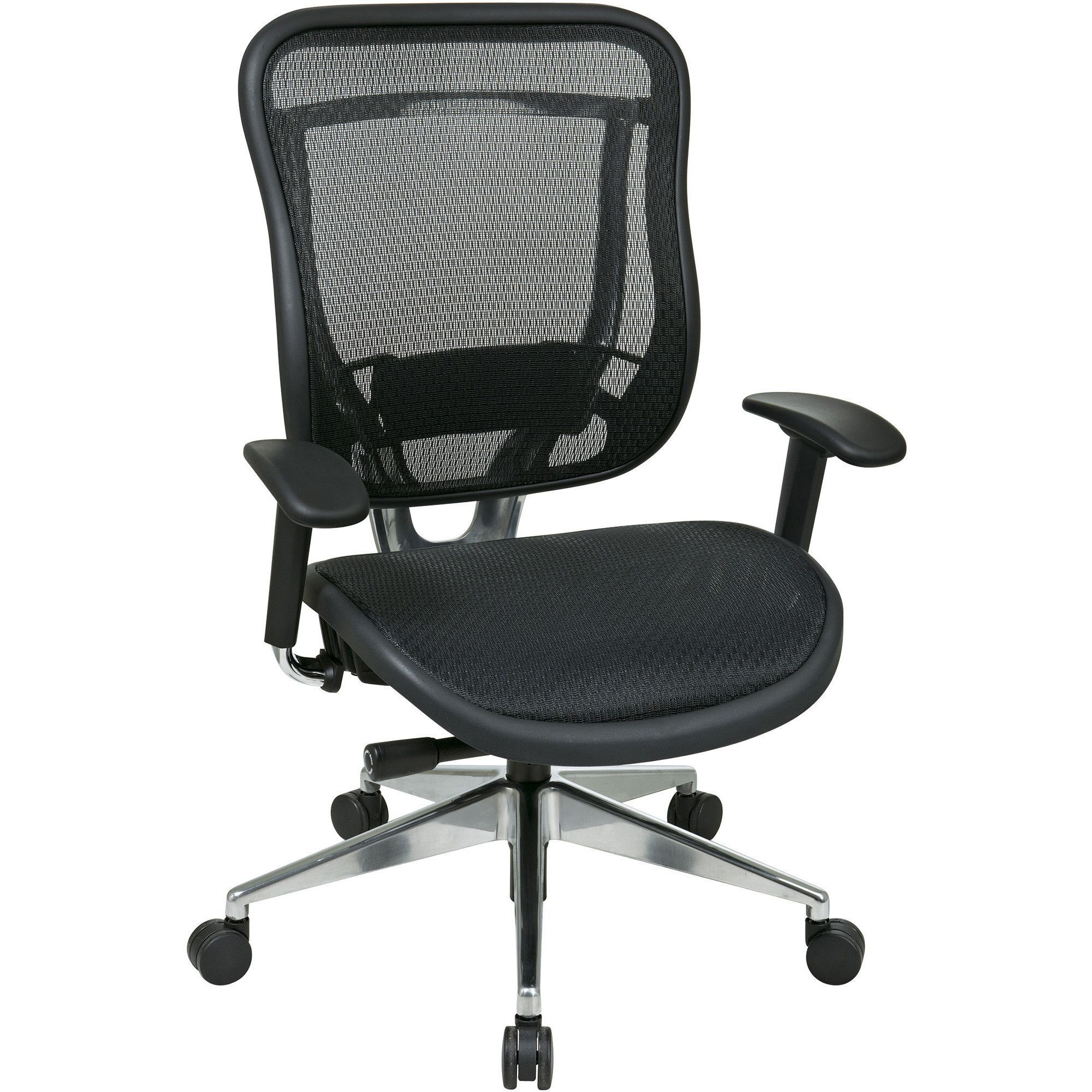 Executive High-Back Chair with Breathable Mesh Back & Seat, Black