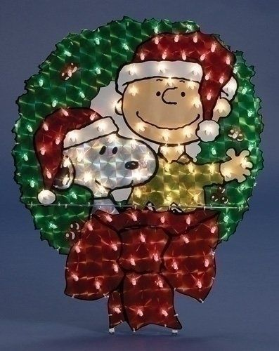 charlie brown fans can bring fun to the lawn with these fabulous peanuts outdoor christmas decorations theyre fun theyre bright they make you happy