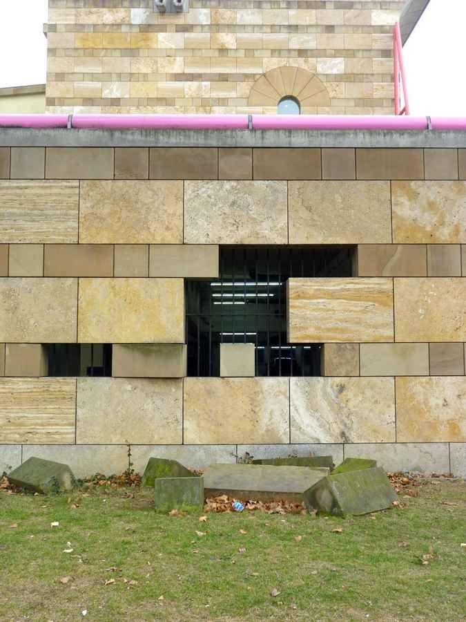 Detalhe da fachada da Neue Staatsgalerie de Stuttgart