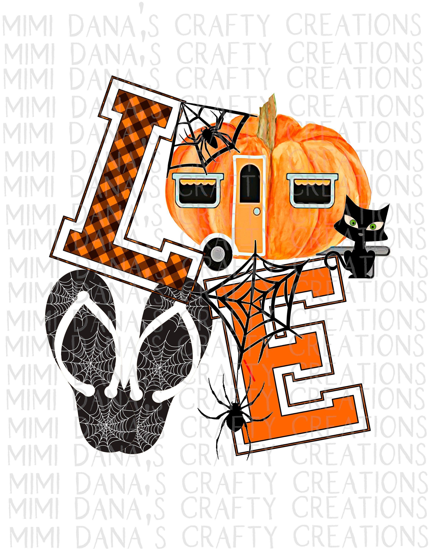 Halloween camper love clipart transparent png jpg svg