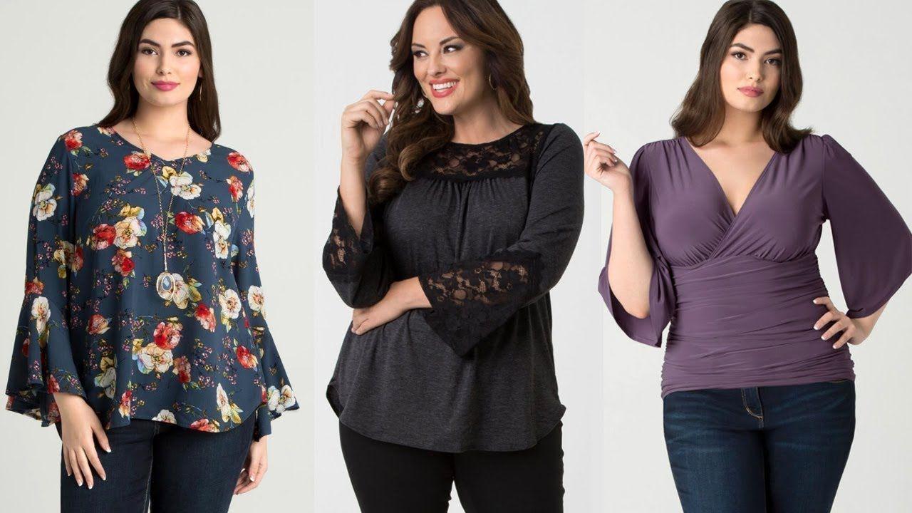 4282da92f Blusas para Mujeres Gorditas 2019 - Blusas de Moda 2019 y 2020 ...