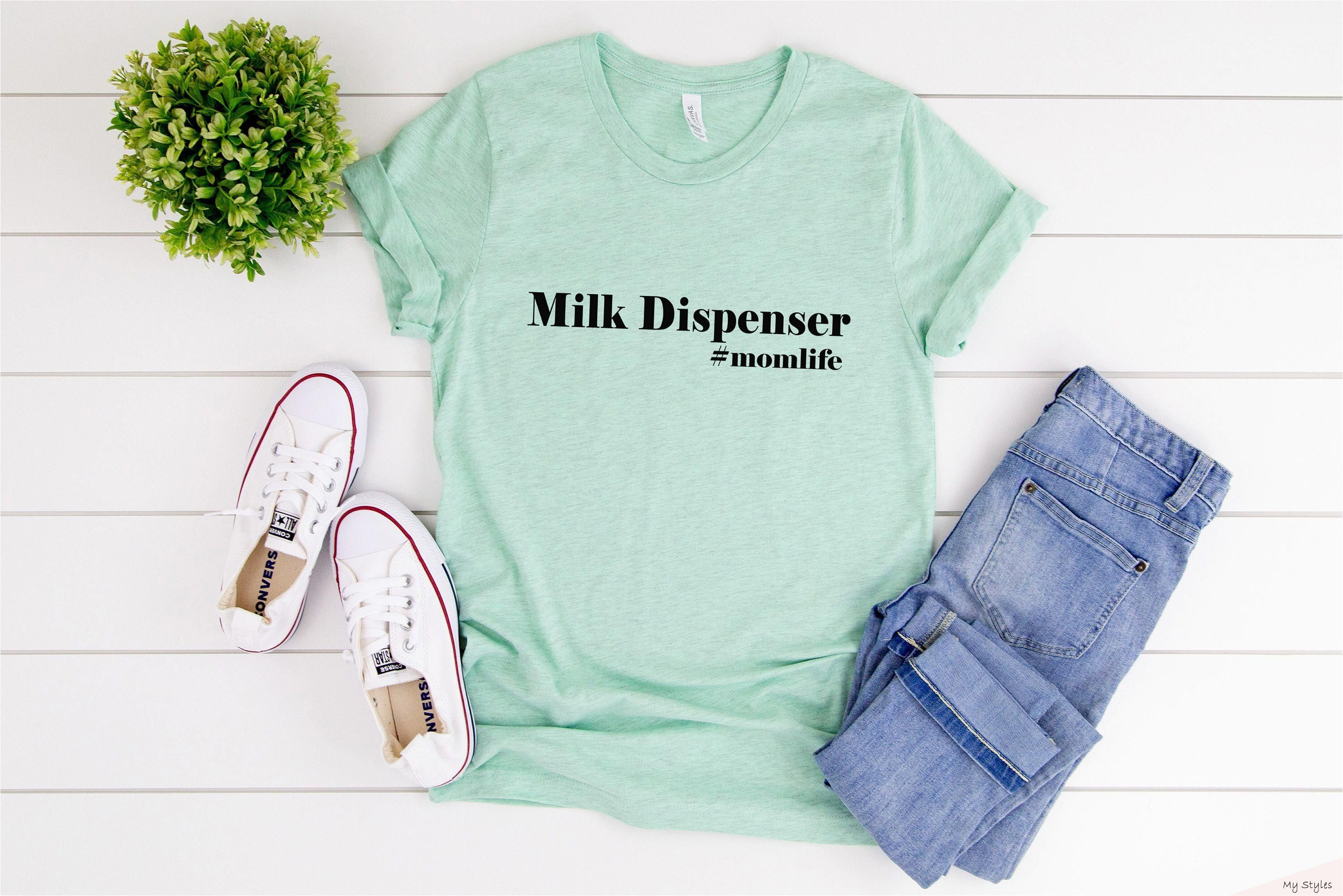 Milk Dispenser Tee  Womens Clothing  Shirts for Women  Womens Shirts  Funny Mom Shirt  Mom- #breastfeeding #humor #truths