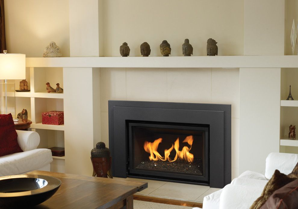 Modern Gas Fireplace With Living Room Contemporary Fireplace