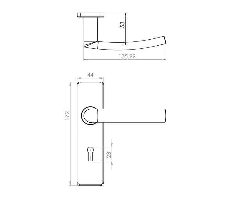 Image Result For Door Handle Dimension Door Handles Doors Handle