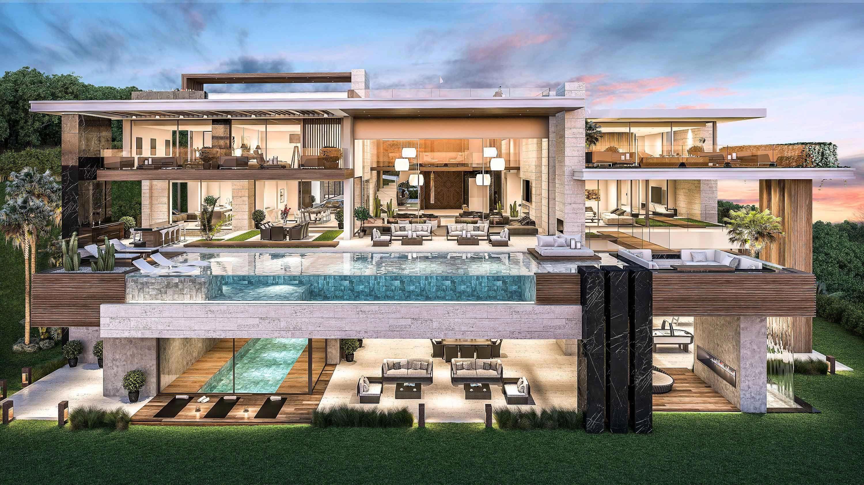 Modern Villas Luxury Homes In Marbella Madrid Portfolio Modernhomedecorideas Luxury Homes Dream Houses Modern Mansion Luxury House Plans