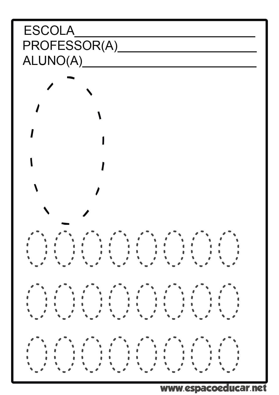 Atividades Com Numerais Tracejados De 0 A 9 Para Coordenacao