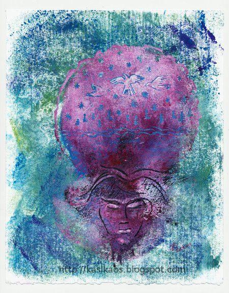 "Forest Dreaming Monotype Gelatin Printmaking Original Art on 8"" x 10"" Stonehenge Paper. $100.00, via Etsy."