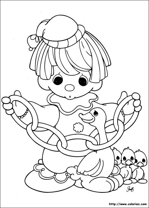 Pm Clown With Rings Precious Moments Coloring Pages Coloring Books Coloring Pages