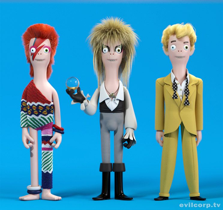 Bowie Vinyl Idols By Evil Corp Evilcorp Tv Natty Toys