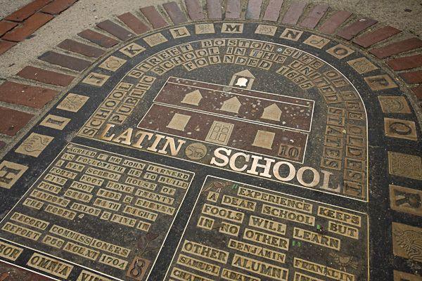 Latin School Marker Photo Freedom Trail Boston Freedom Trail Boston Common