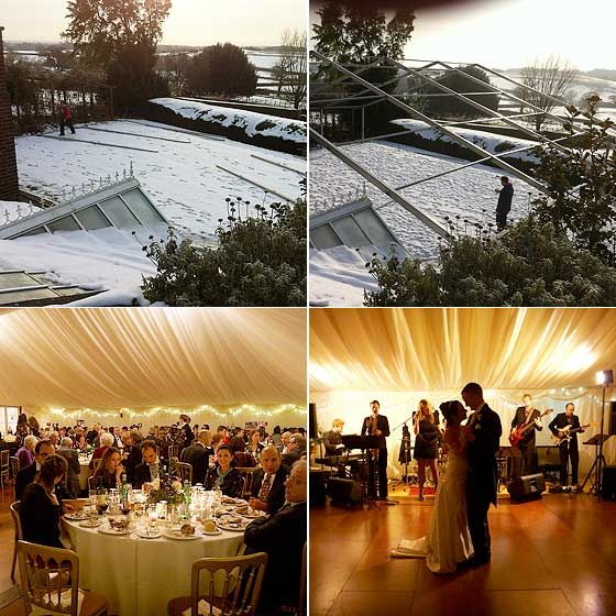 Marquee Wedding, Wedding Inside