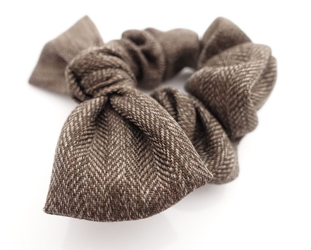 herringbone pattern bow knot hair scrunchies wire scrunchie for women   VeryShine  bowknotscrunchies  casual 06c598a2d2b