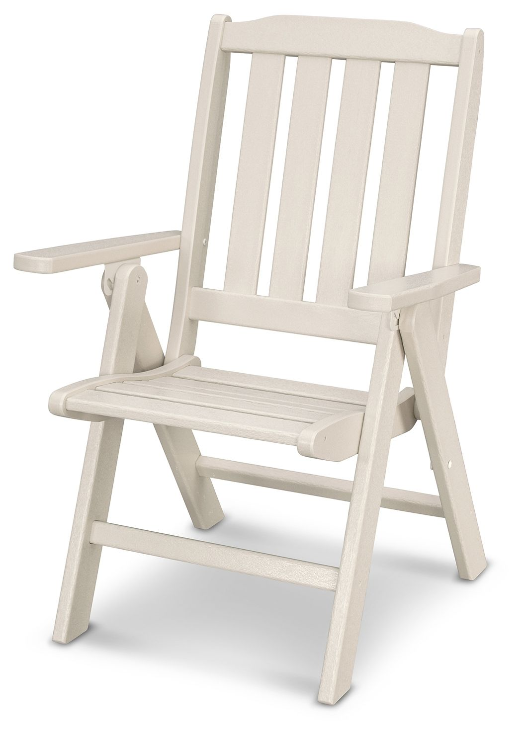 Polywood Emerson All Weather Folding Chair Sand