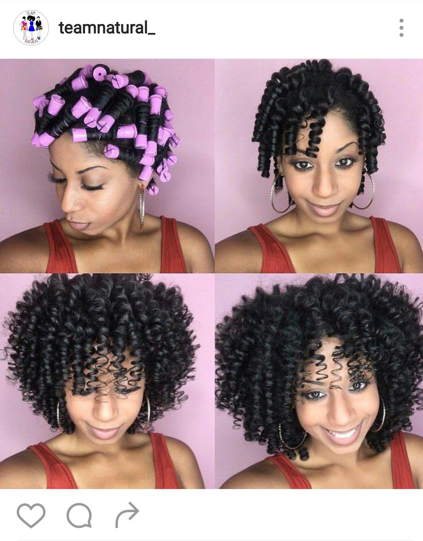 Perm Rod Set Medium Length Hair Styles Medium Hair Styles Natural Hair Styles