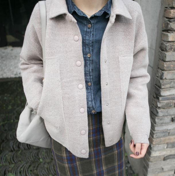 The new autumn and winter women loose sweater coat jacket coat thick sweater for students
