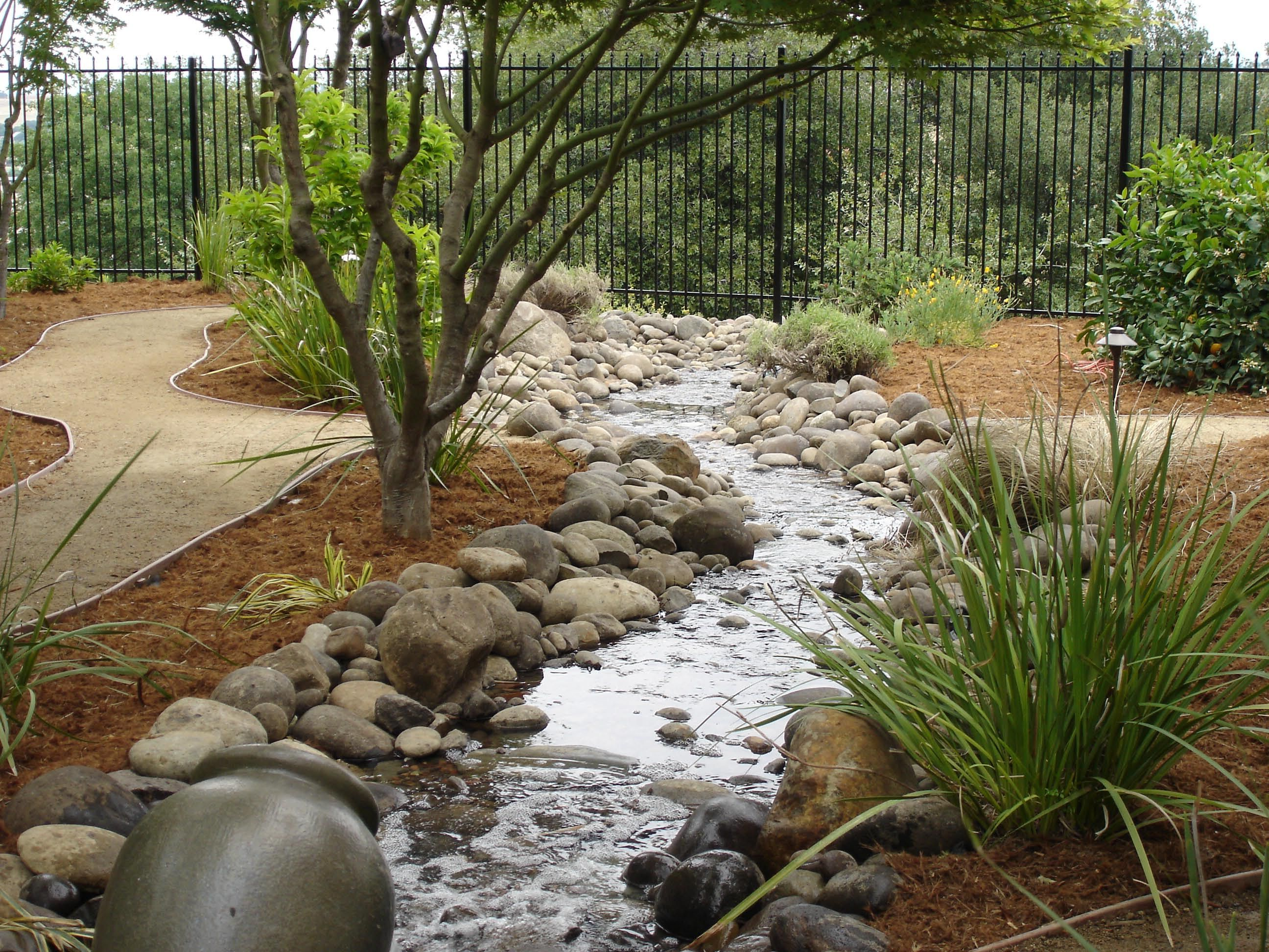 Once A Dry Stream Bed Hillside Landscaping Water Features Landscape Design