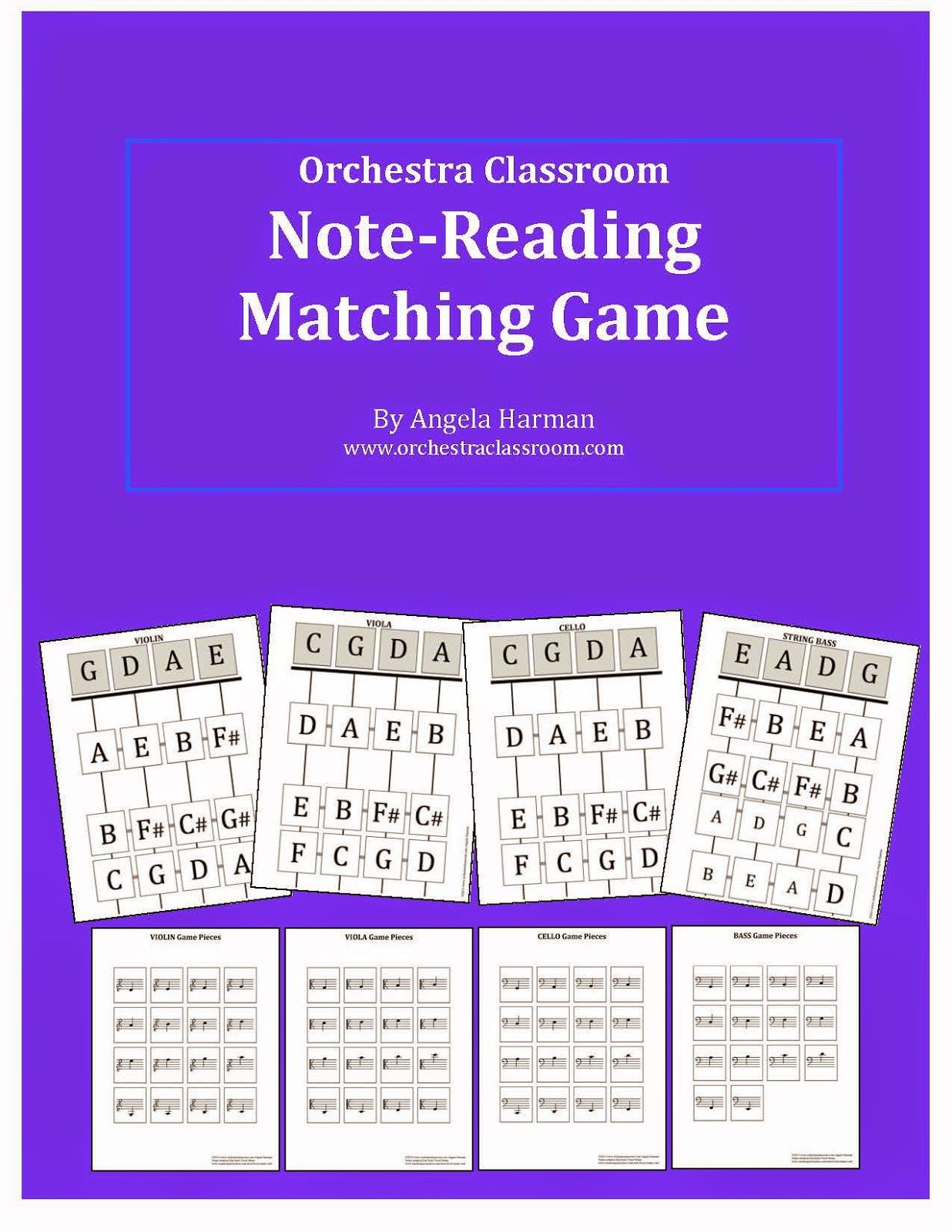 New Note Reading Matching Game For The Orchestra Classroom