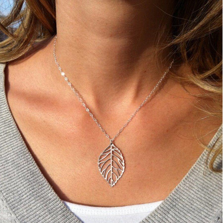 Goldsilver leafleaves necklace leaves leaf design and gold