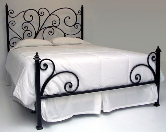 iron bed frame love the low foot board
