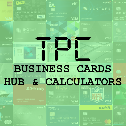 Tpc Business Card Hub Calculate Rewards Compare Cards In 2021 Compare Cards Business Credit Cards Small Business Cards