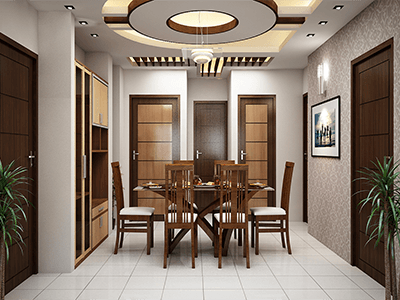 Apartment At Uttara Dining Room Ceiling Interior Idea Di 2019