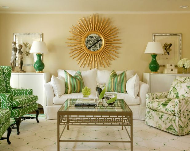 Concept: Use Mirrors To Create Focal Point / Shift Attention In Great Room.  Modern Living RoomsLiving Room IdeasGreen ...