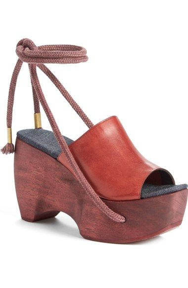 SIMON MILLER X Reinhard Plank Ankle Wrap Mule (Women). #simonmiller #shoes #sandals