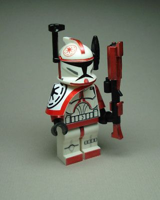Commander Figure Clone Trooper Lego Wars Fox Star Arc Min Custom Red b76yYvfg