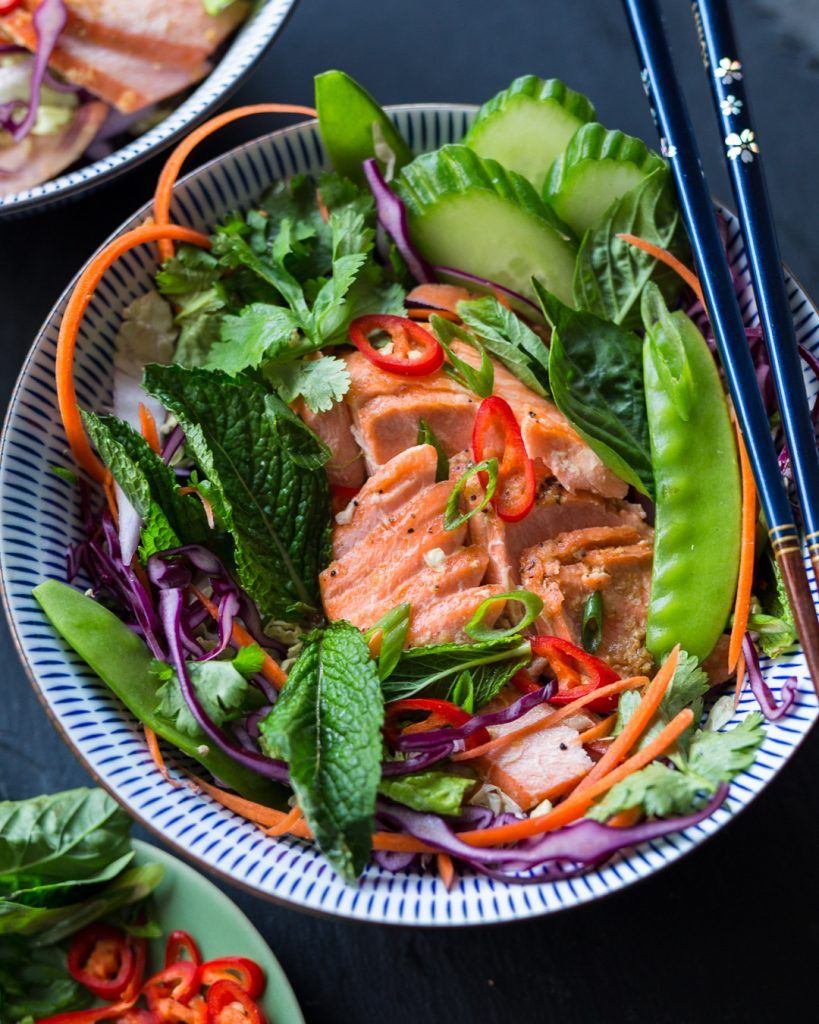 asian rainbow trout slaw  whole30  recipe  trout