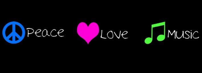 Peace, Love, Music Facebook Cover Best facebook cover