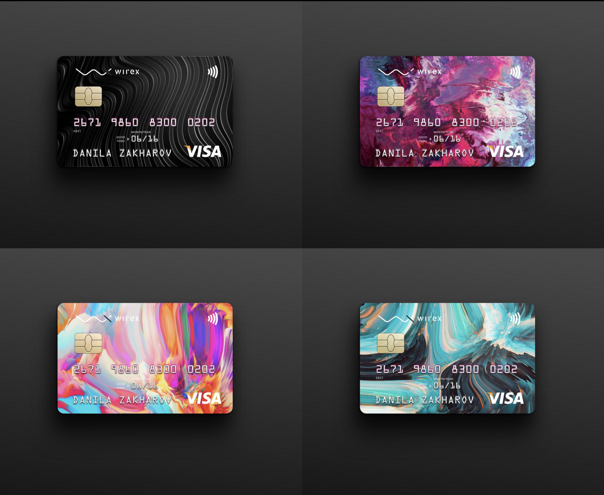 Wirex Card A Look Behind The Design Debit Card Design Credit Card Design Credit Card Art