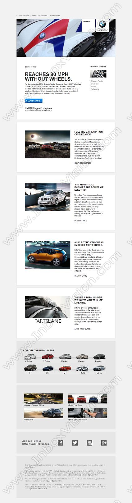 Bmw Inspirational Email Design With Images Email Design Email