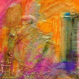 Kunst Ambiente andere welt abstrakte malerei acryl experimentell spachtelmasse