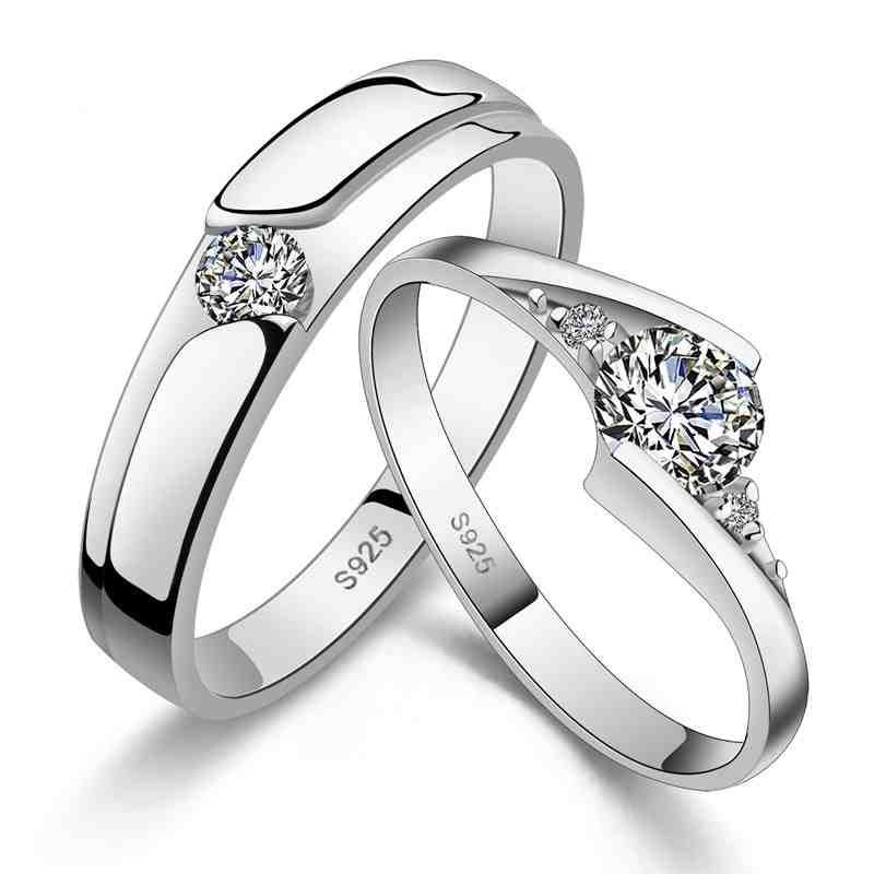 Cheap Wedding Rings Sets For Him And Her Fashion Rings Couple Wedding Rings Sterling Silver Wedding Rings
