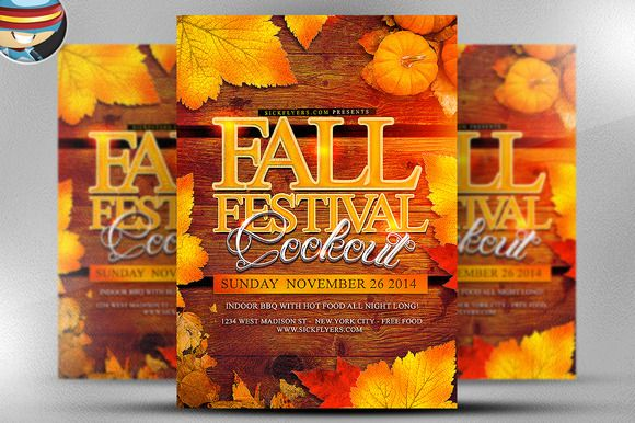 Fall Festival Flyer Template by FlyerHeroes on Creative Market - fall flyer