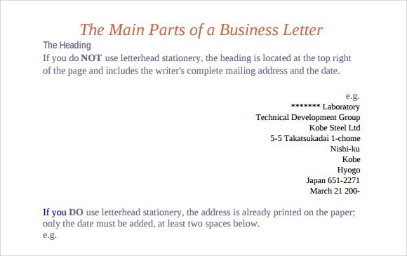 Parts Business Letter Download Free Documents Pdf Ppt  Home