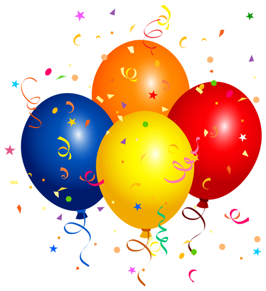 Confetti and Balloons PNG Clipart Image | Клипарты ...