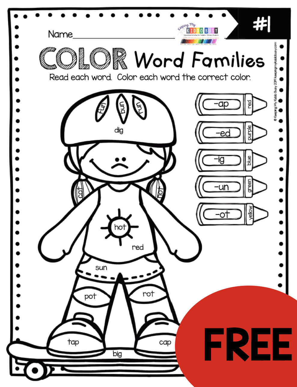 small resolution of FREE Phonics Worksheets and activities for teaching word families CVC words  kindergarten first grad… in 2020   Word families