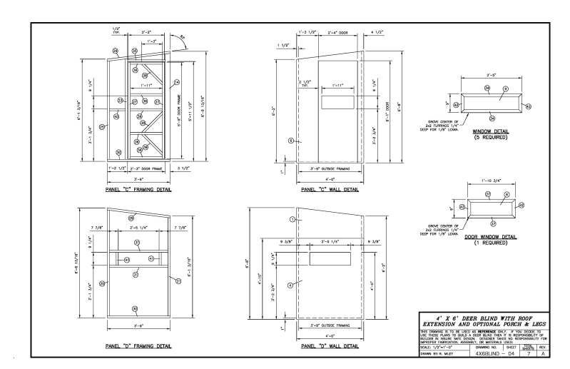 Please Critic My 4x6 Deer Blind Layout Plans Will Follow