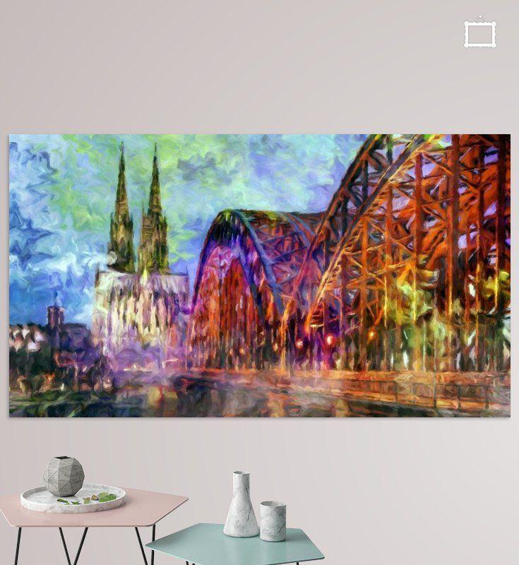 Hohenzollernbrucke In Koln Poster Marion Tenbergen Stadtlandschaft Kunst Abstrakt Kunst