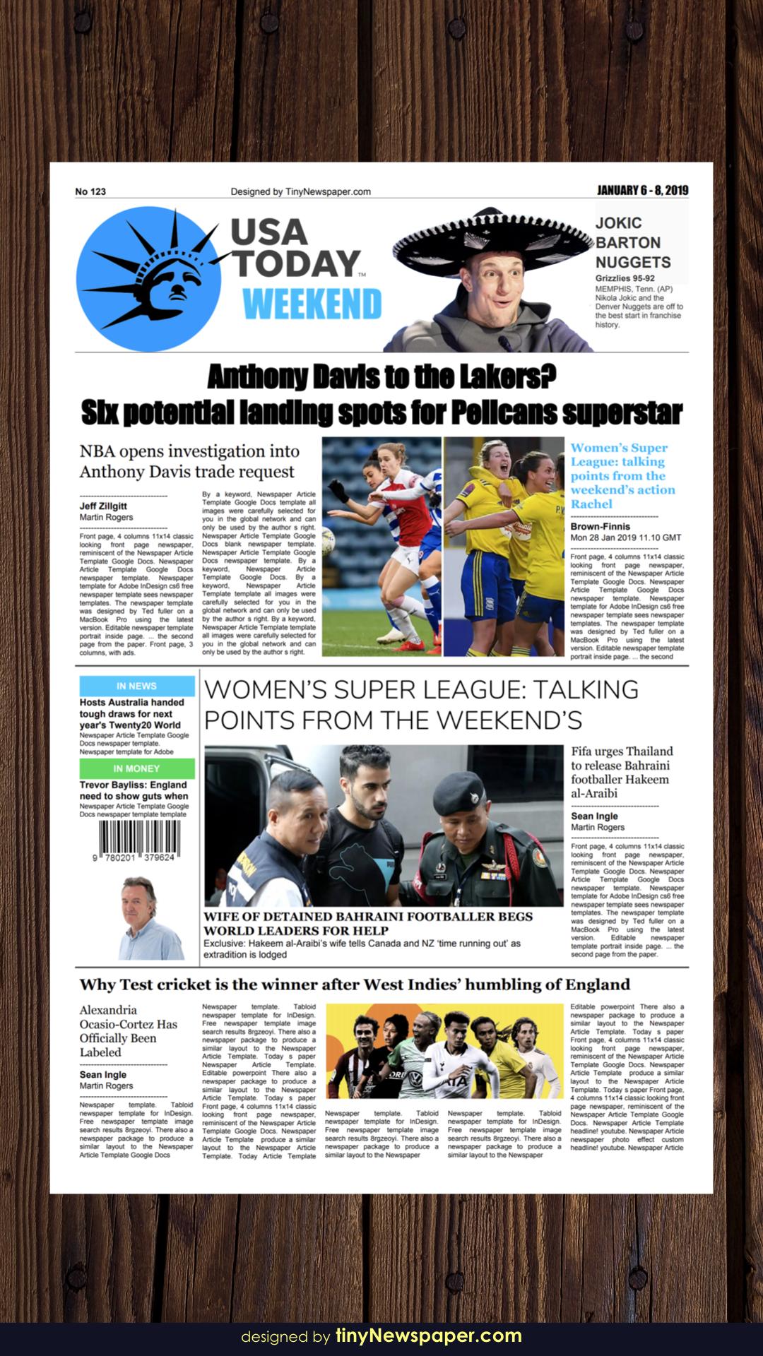 the usa today newspaper