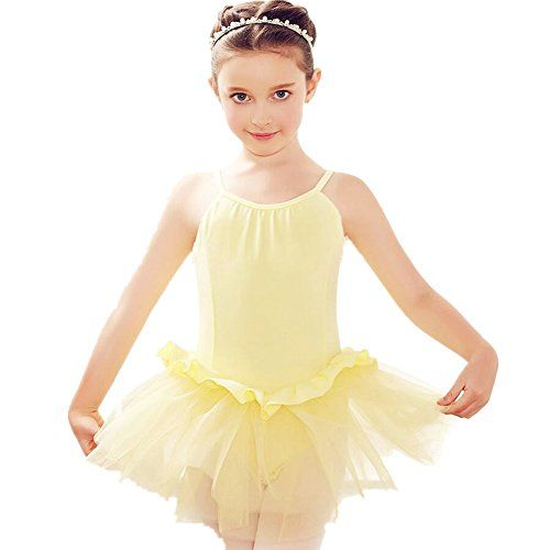 1980b206f5683 ZYZF Girl Kids Camisole Tutu Leotard Ballet Dance Ruffle Skirt Dress ...