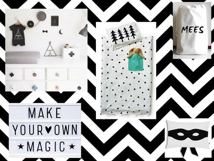 Zwart Witte Kinderkamers : Zwart witte kinderkamer accessoires