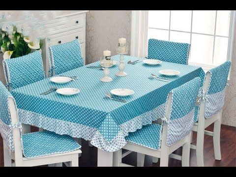 اشيك مفارش طاولة طعام شراشف طاولات سفرة روعة Dining Room Tablecloths Youtube Almofadas Para Cadeiras De Cozinha Capa Cadeira Jantar Ideias De Decoracao